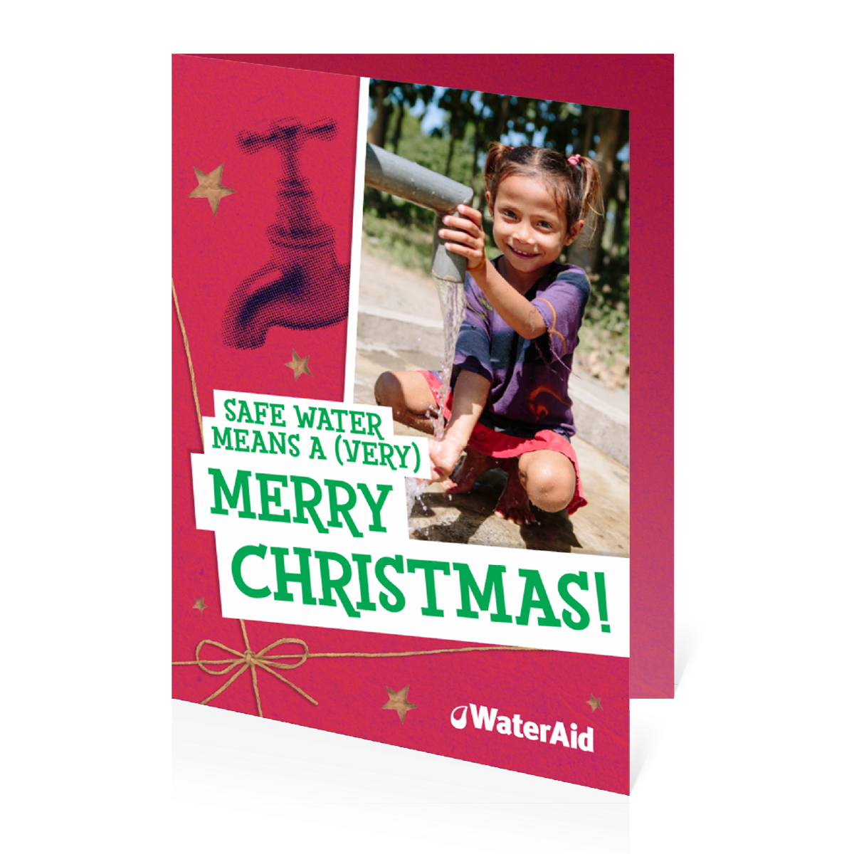 $27 can buy materials to help build toilets and tap stands (Christmas card)