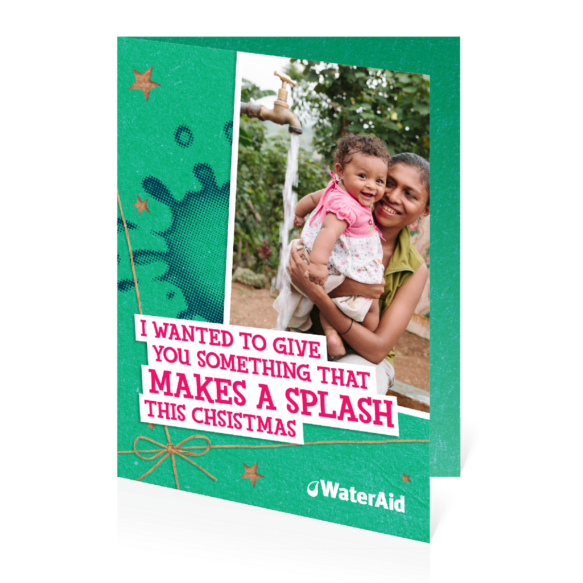 $70 can help provide water for a child (Christmas card)