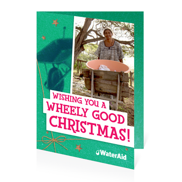 $40 can buy a wheelbarrow (Christmas card)