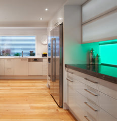 Feature lighting the kitchen with LED ribbon