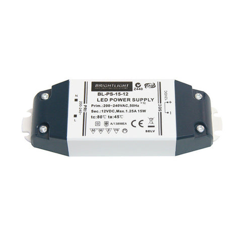 15W 12V IP20 Constant Voltage Power Supply