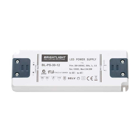 30W 12V IP20 Constant Voltage Power Supply