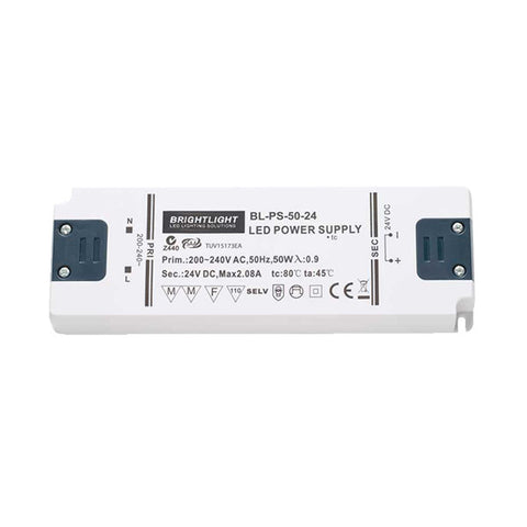 50W 24V IP20 Constant Voltage Power Supply