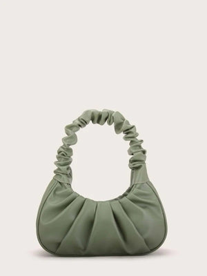 Ruched Baguette Bag