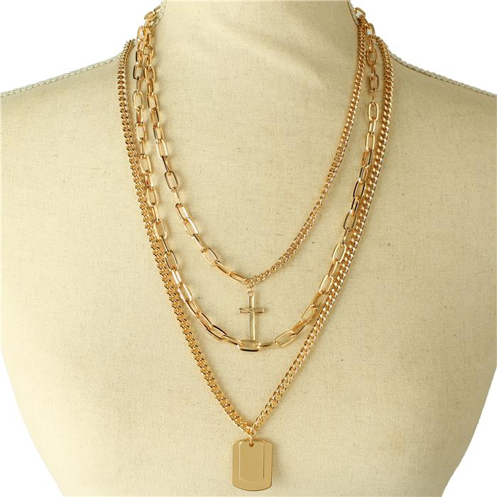 Triple Layered Cross Chain
