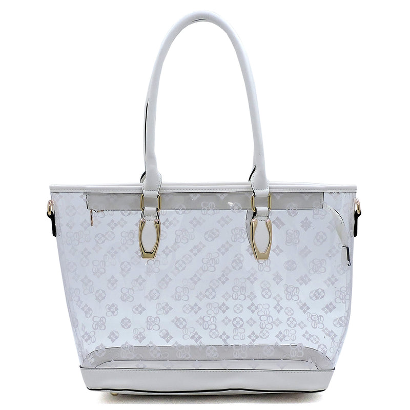 See Thru Monogram Shopper