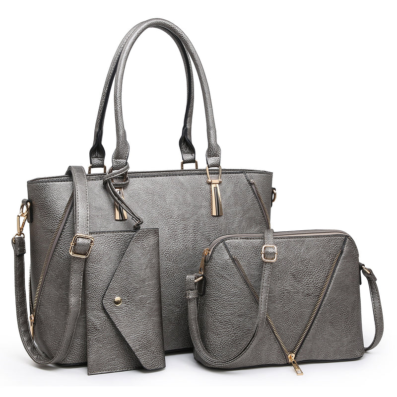 Fashion Zip Top Handle 3-in-1 Satchel