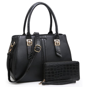 Croc Alligator Trim 2-in-1 Satchel