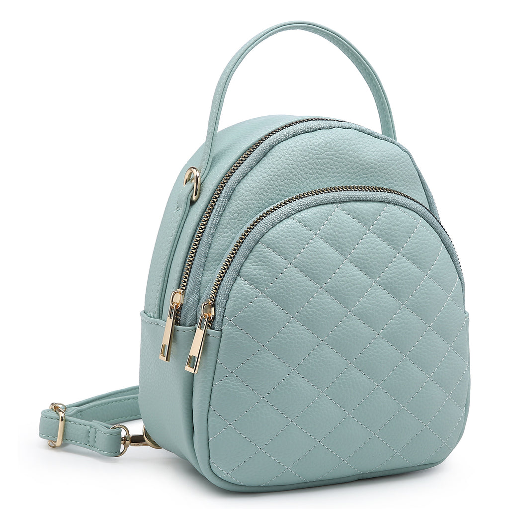 Fashion Quilted Convertible Backpack
