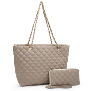 Quilted Classic Shopper 2-in-1 Tote