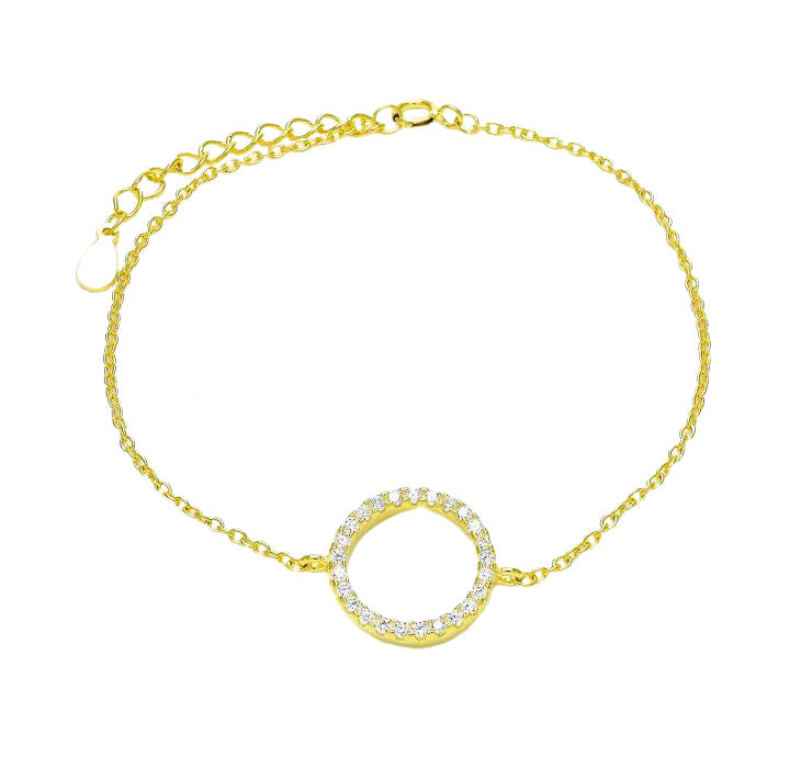 MISSARI 925 Circle of Diamonds Bracelet