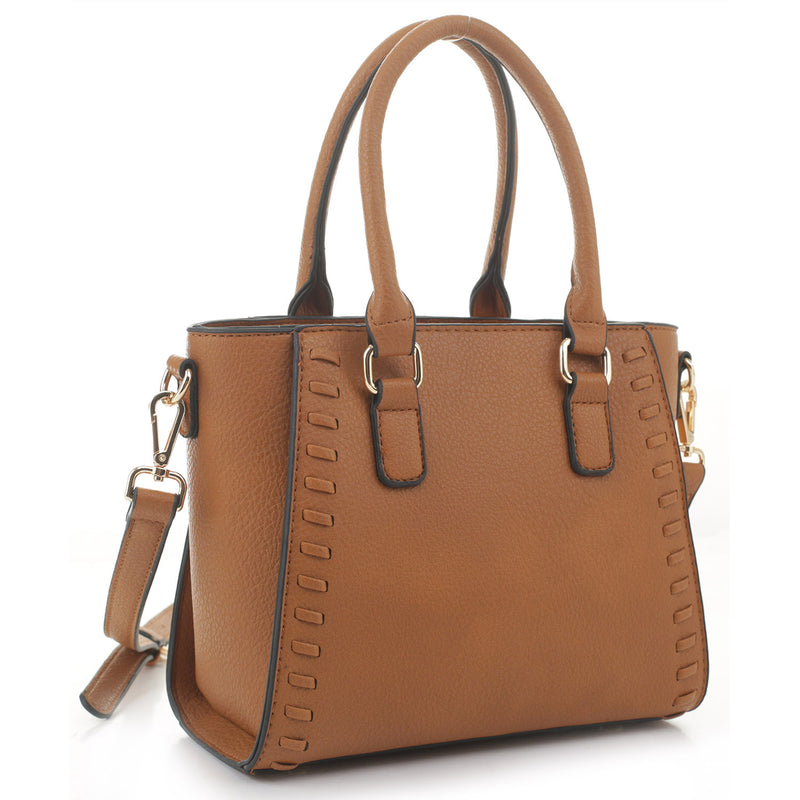 Fashion Whipstitch Satchel