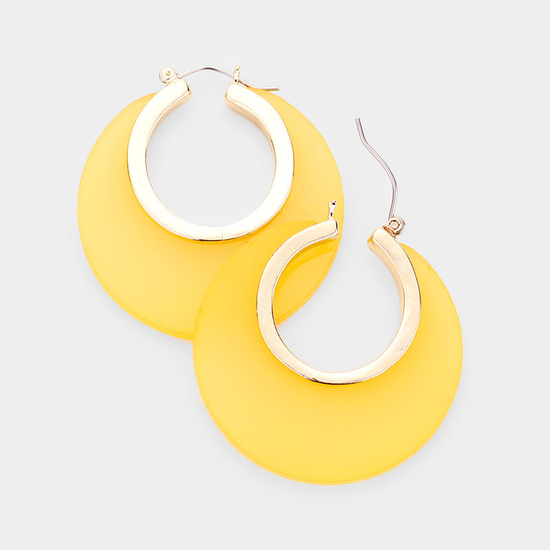 OPEN ROUND PIN CATCH EARRINGS