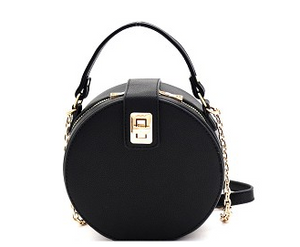 Turn Lock Accent Round Crossbody