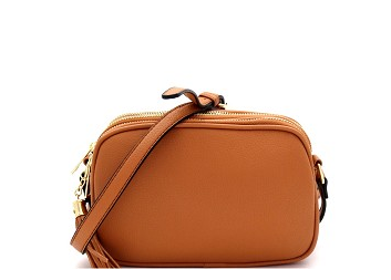 TASSEL ACCENT 3 COMPARTMENT DOME SOFT CROSSBODY