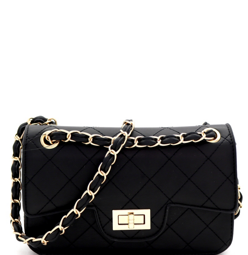 Quilted Turn-lock Medium chain shoulder bag
