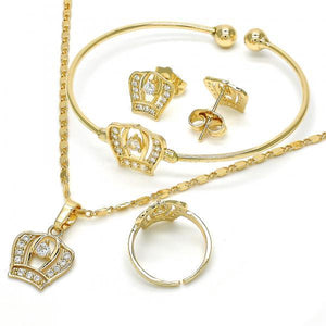 Gold Layered Earring and Pendant Children Set