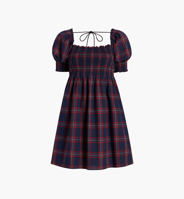 The Athena Nap Dress - Iris Tartan