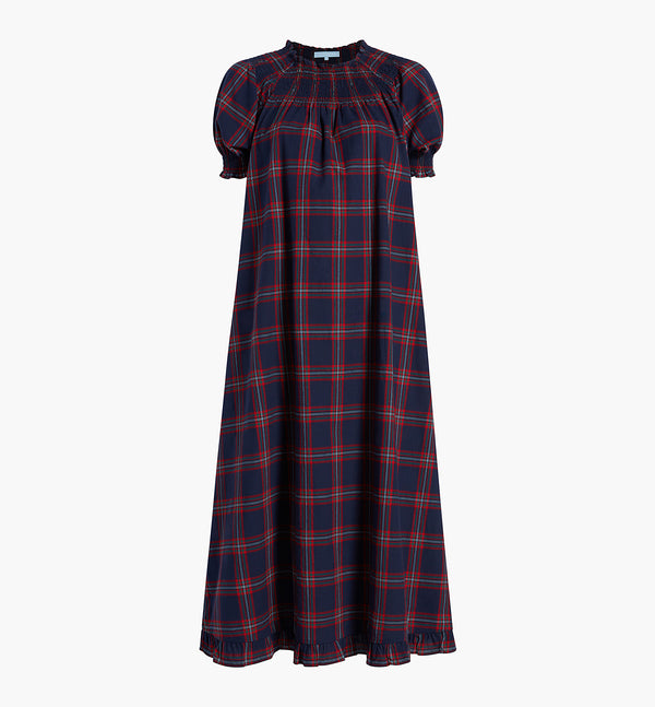 The Caroline Nap Dress - Iris Tartan