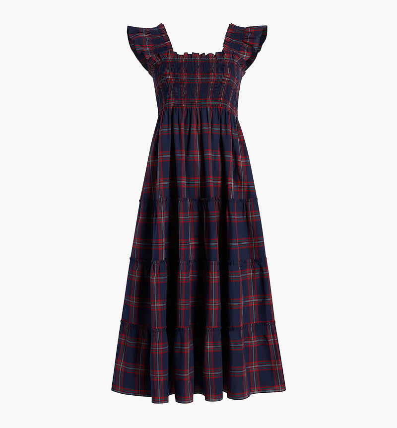 The Ellie Nap Dress - Iris Tartan