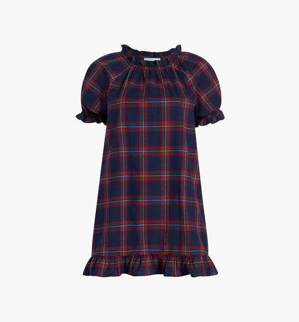 The Katherine Nap Dress - Iris Tartan