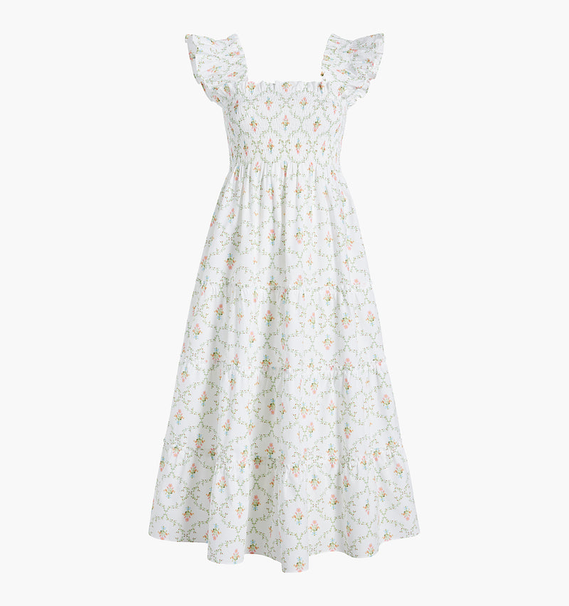 The Ellie Nap Dress - Pastel Trellis