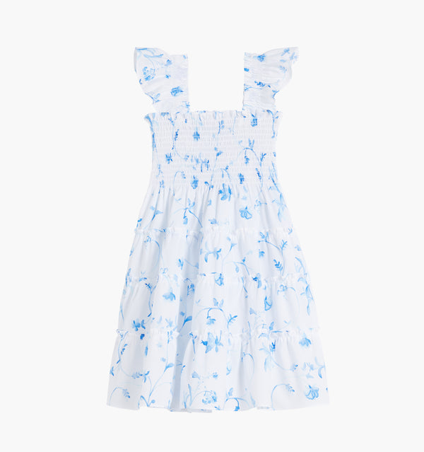 The Tiny Ellie Nap Dress - Blue Botanical