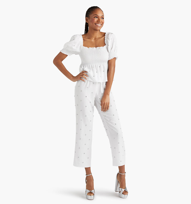 The Jewel Jammie Top - White