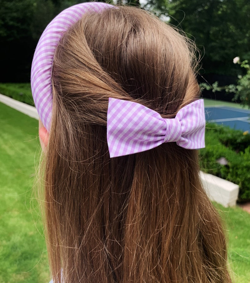 The Alice Headband - Lilac Gingham
