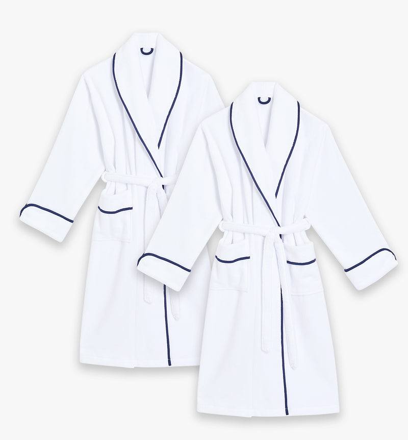 The Navy Adult Robe Bundle - Hers & Hers