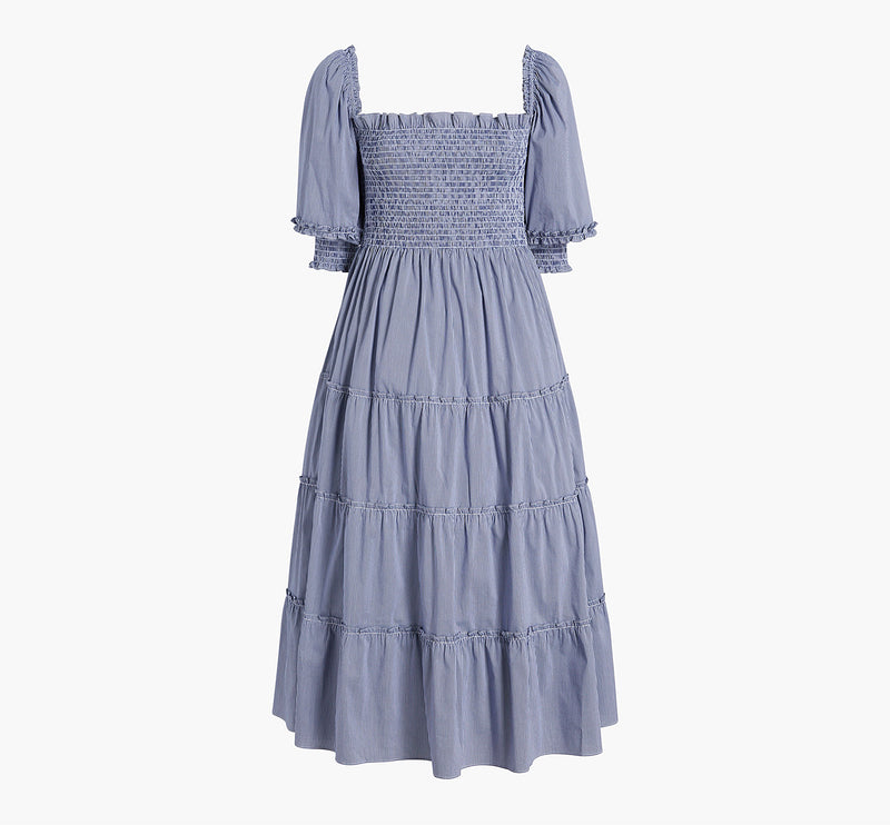 The Nesli Nap Dress - Navy Gingham