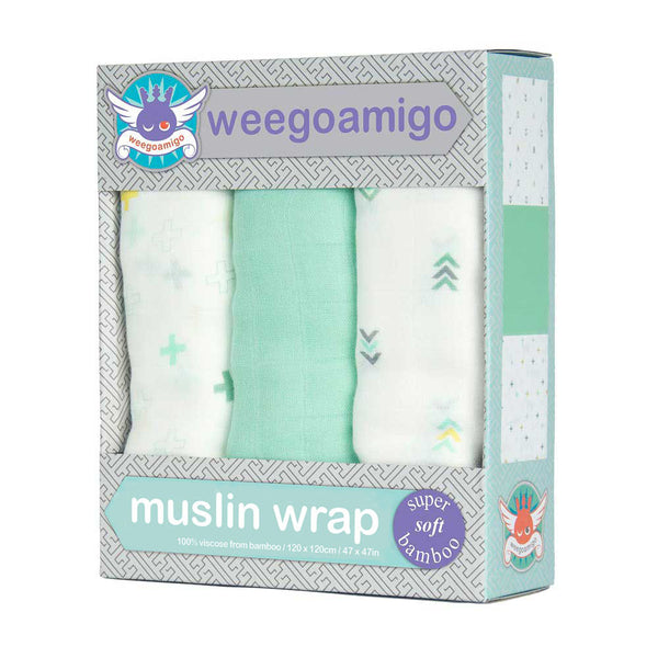 Super Soft Baby Muslin 3 pack Swaddle Set