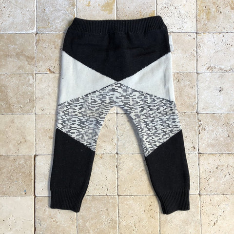 Geometric Sweater Knit Pants