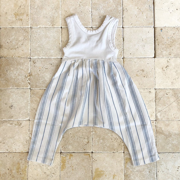 Santorini Stripe Bubble Romper - Family Store