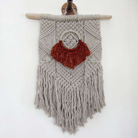 Macrame Dyed Wall Hanging