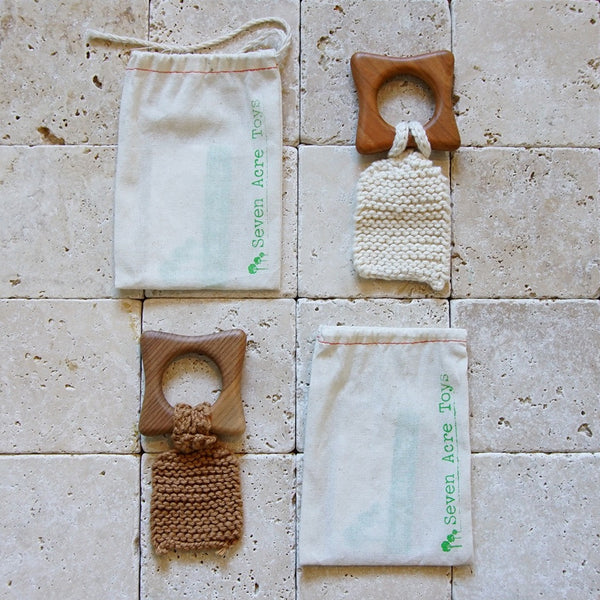 Wooden Teethers with Crochet - Family Store
