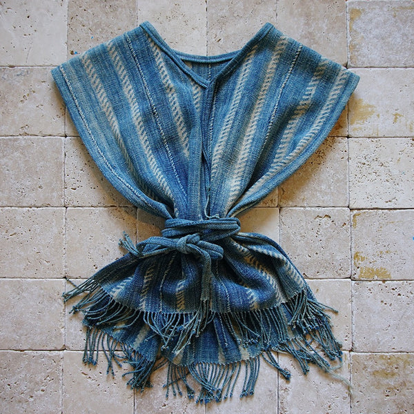 Mud Cloth Indigo Poncho