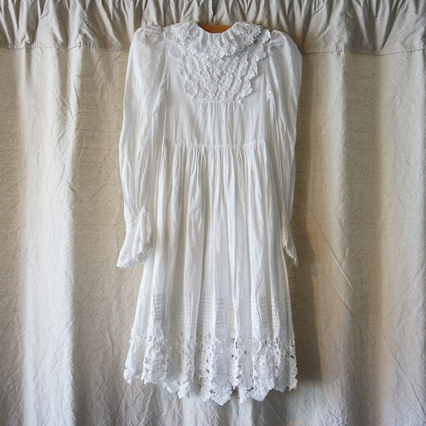Vintage White Victorian Dress - Family Store
