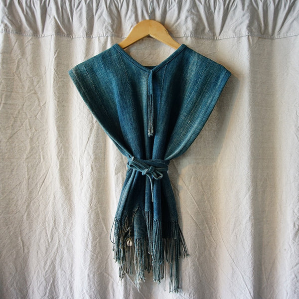 Mud Cloth Indigo Poncho - Family Store