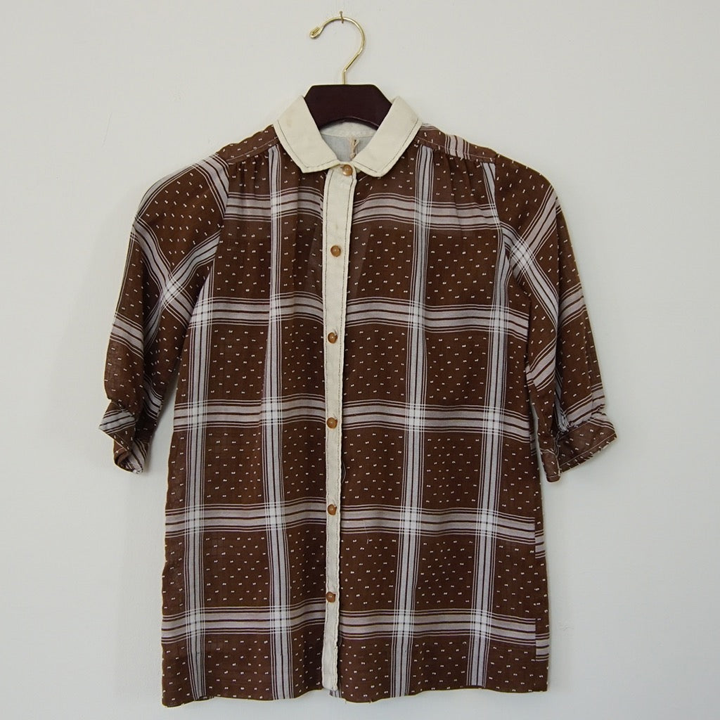 Vintage Brown Shirt Dress - Family Store