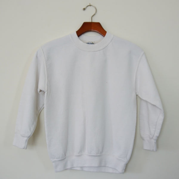 Vintage White Pullover Sweatshirt - Family Store