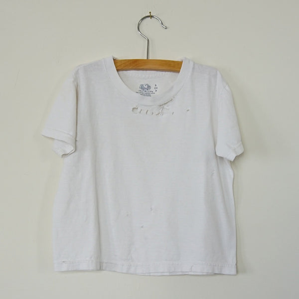 Vintage Distressed White Tee