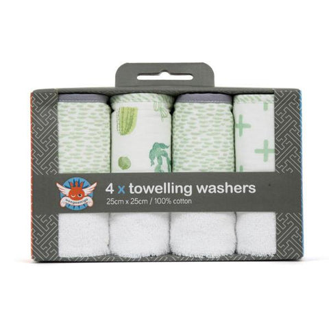 Toweling Washer 4 Pack