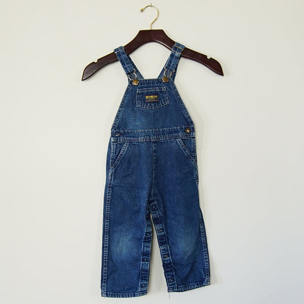 Vintage Dark Denim OshKosh Overalls - Family Store