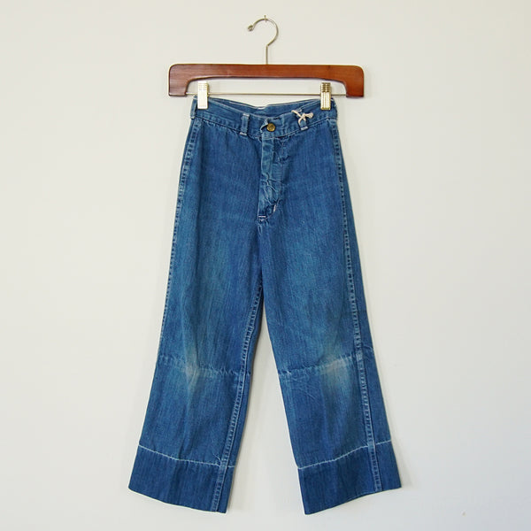 Vintage High-Waisted Denim Pant - Family Store