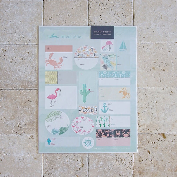 Watercolor Sticker Sets - Family Store