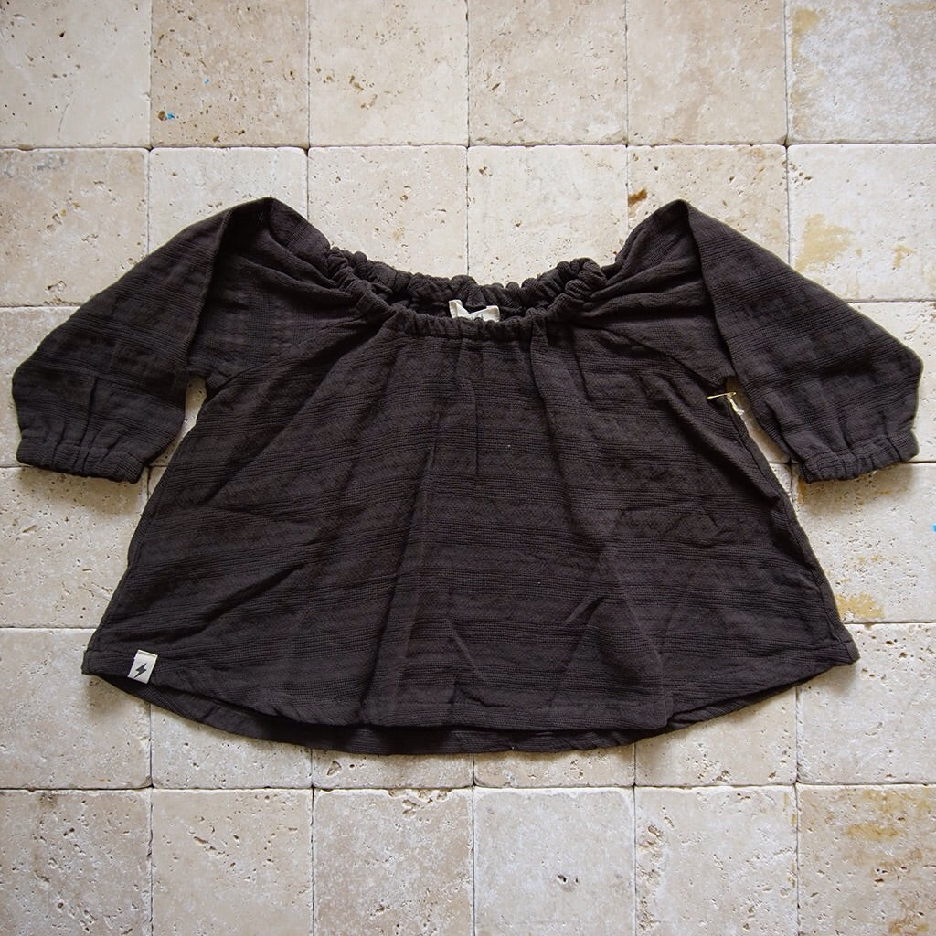Woven Peasant Blouse