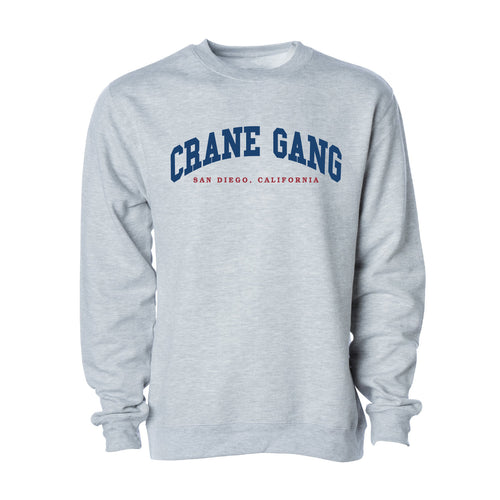 University Crewneck in Heather Gray