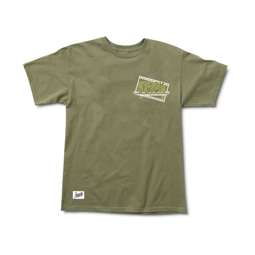 Stack Clips Tee in Military Green