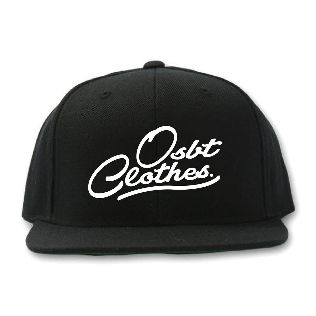 Winter Staples Puffy Snapback in Black